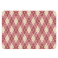 The Softer Side by Weather Guard™ 23-Inch x 36-Inch Classic Argyle Kitchen Mat in Warm