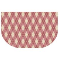 The Softer Side by Weather Guard™ 24-Inch x 40-Inch Classic Argyle Kitchen Mat in Warm