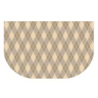 The Softer Side by Weather Guard™ 24-Inch x 40-Inch Classic Argyle Kitchen Mat in Natural