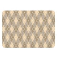 The Softer Side by Weather Guard™ 23-Inch x 36-Inch Classic Argyle Kitchen Mat in Natural
