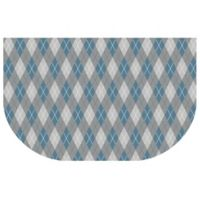 The Softer Side by Weather Guard™ 24-Inch x 40-Inch Classic Argyle Kitchen Mat in Cool
