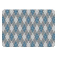The Softer Side by Weather Guard™ 23-Inch x 36-Inch Classic Argyle Kitchen Mat in Cool