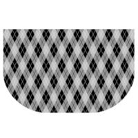 The Softer Side by Weather Guard™ 24-Inch x 40-Inch Classic Argyle Kitchen Mat in Black