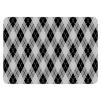 The Softer Side by Weather Guard™ 23-Inch x 36-Inch Classic Argyle Kitchen Mat in Black