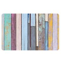 The Softer Side by Weather Guard™ 18-Inch x 27-Inch Colored Weathered Wood Kitchen Mat