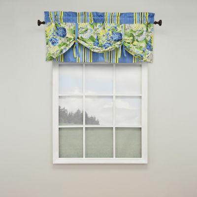Waverly® Floral Flourish Rod-Pocket Window Valance in Porcelain