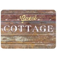 "The Softer Side by Weather Guard™ 18-Inch x 27-Inch ""Guest Cottage"" Rustic Sign Kitchen Mat"
