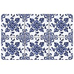 The Softer Side by Weather Guard™ Delft Floral 18-Inch x 27-Inch Kitchen Mat
