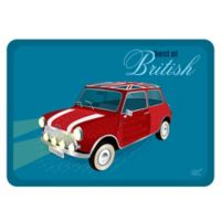 """The Softer Side by Weather Guard™ 23-Inch x 26-Inch """"Best of British"""" Mini Kitchen Mat"""