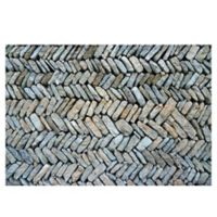 The Softer Side by Weather Guard™ Herringbone Path 23-Inch x 36-Inch Kitchen Mat