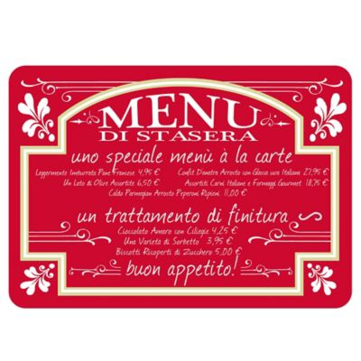 The Softer Side by Weather Guard  Italian Bistro 18 Inch x 27 Inch. Buy Red Kitchen Mats from Bed Bath   Beyond