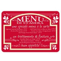 The Softer Side by Weather Guard™ Italian Bistro 18-Inch x 27-Inch Kitchen Mat in Red