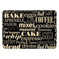 The Softer Side by Weather Guard™ 18-Inch x 27-Inch Kitchen Words Kitchen Mat in Black/White