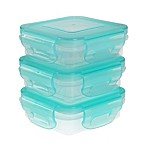 Innobaby Preppin SMART™ EZ Lock 3-Piece 4-Oz. Square Food Storage Containers in Green