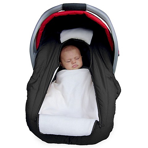 Jolly Jumper Arctic Sneak A Peek Car Seat Cover In Black