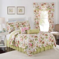 Waverly® Emma's Garden Reversible Full/Queen Quilt Set in Blossom