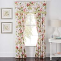 Waverly® Emma's Garden Rod Pocket Window Curtain Panel Pair in Blossom