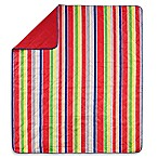 Stripe Indoor/Outdoor Throw Blanket in Red Multi