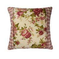 Waverly® Norfolk Reversible Cabbage Rose/Gingham Throw Pillow