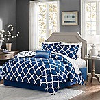 Madison Park Essentials Merritt 9-Piece Reversible Queen Comforter Set in Navy