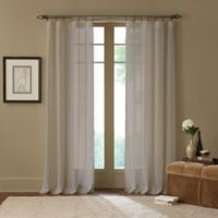 Cambria® Terra 108-Inch Rod Pocket Sheer Window Curtain Panel in Linen