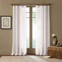 Cambria Terra 108 Inch Rod Pocket Sheer Window Curtain Panel In Off White