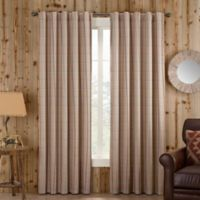 Branklyn Plaid 108-Inch Rod Pocket/Back Tab Window Curtain Panel in Natural