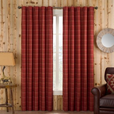 Branklyn Plaid 120 Inch Rod Pocket Back Tab Window Curtain Panel In Red