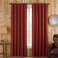 Branklyn Plaid 120-Inch Rod Pocket/Back Tab Window Curtain Panel in Red