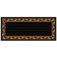 The Softer Side by Weather Guard™ 25-Inch x 60-Inch Black Paisley Kitchen Mat