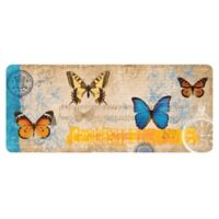 The Softer Side by Weather Guard™ 25-Inch x 60-Inch Butterfly Card Kitchen Mat