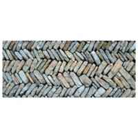 The Softer Side by Weather Guard™ Herringbone Path 25-Inch x 60-Inch Kitchen Mat