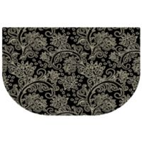The Softer Side by Weather Guard™ 24-Inch x 40-Inch Paisley Kitchen Mat in Black/White