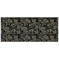 The Softer Side by Weather Guard™ 25-Inch x 60-Inch Paisley Kitchen Mat in Black/White