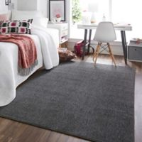 Mohawk® Lockstitch 5-Foot x 7-Foot Area Rug in Charcoal