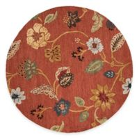 Jaipur Blue Collection Floral 6-Foot Round Area Rug in Red Multi