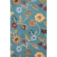 Jaipur Blue Collection Floral 2-Foot x 3-Foot Accent Rug in Blue Multi