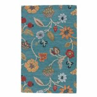 Jaipur Blue Collection Floral 5-Foot x 8-Foot Area Rug in Blue Multi