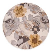 Jaipur Blue Collection Floral 8-Foot Round Area Rug in Ivory/Yellow