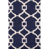 Jaipur Regency 3-Foot 6-Inch x 5-Foot 6-Inch Area Rug in Blue/Ivory