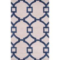 Jaipur Regency 3-Foot 6-Inch x 5-Foot 6-Inch Area Rug in Ivory/Blue