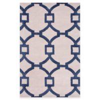 Jaipur Regency 5-Foot x 8-Foot Area Rug in Ivory/Blue