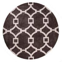 Jaipur Regency 8-Foot Round Area Rug in Ivory/Dark Grey
