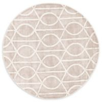 Jaipur City Seattle 8-Foot Round Area Rug in Grey/Ivory