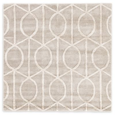 jaipur city seattle 8foot round area rug in taupeivory