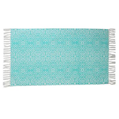 Thro 2 Foot X 3 Anders Accent Rug In Blue