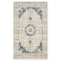 Safavieh Evoke Collection Mirza 3-Foot x 5-Foot Accent Rug in Ivory/Blue