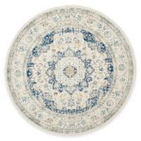 Safavieh Evoke Collection Mirza 5-Foot 1-Inch Round Area Rug in Ivory/Blue