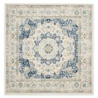 Safavieh Evoke Collection Mirza 5-Foot 1-Inch Square Area Rug in Ivory/Blue