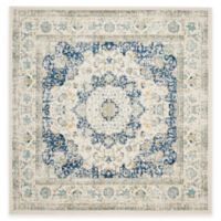 Safavieh Evoke Collection Mirza 6-Foot 7-Inch Square Area Rug in Ivory/Blue